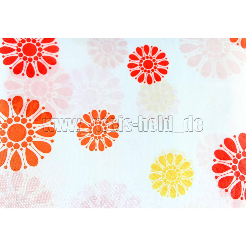 duschvorhang textil duschvorh nge bad dusche vorhang blumen retro os1 ebay. Black Bedroom Furniture Sets. Home Design Ideas