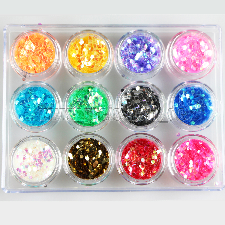 Nail-Art-Glitter-Strasssteine-Folien-Glitterstaub-Gel