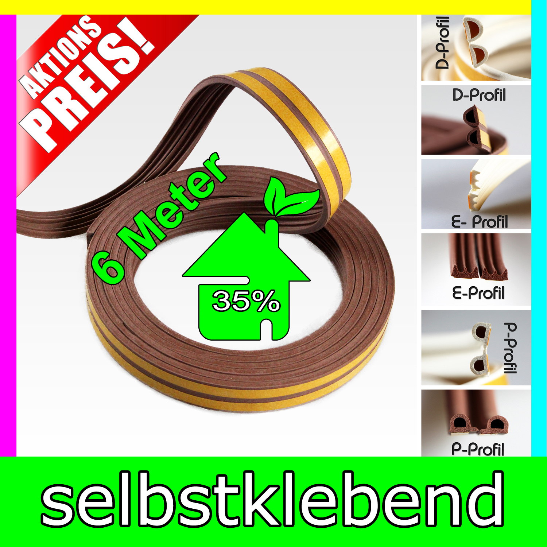 fensterdichtung dichtband fenster t r gummidichtung profil e p d selbstklebend ebay. Black Bedroom Furniture Sets. Home Design Ideas