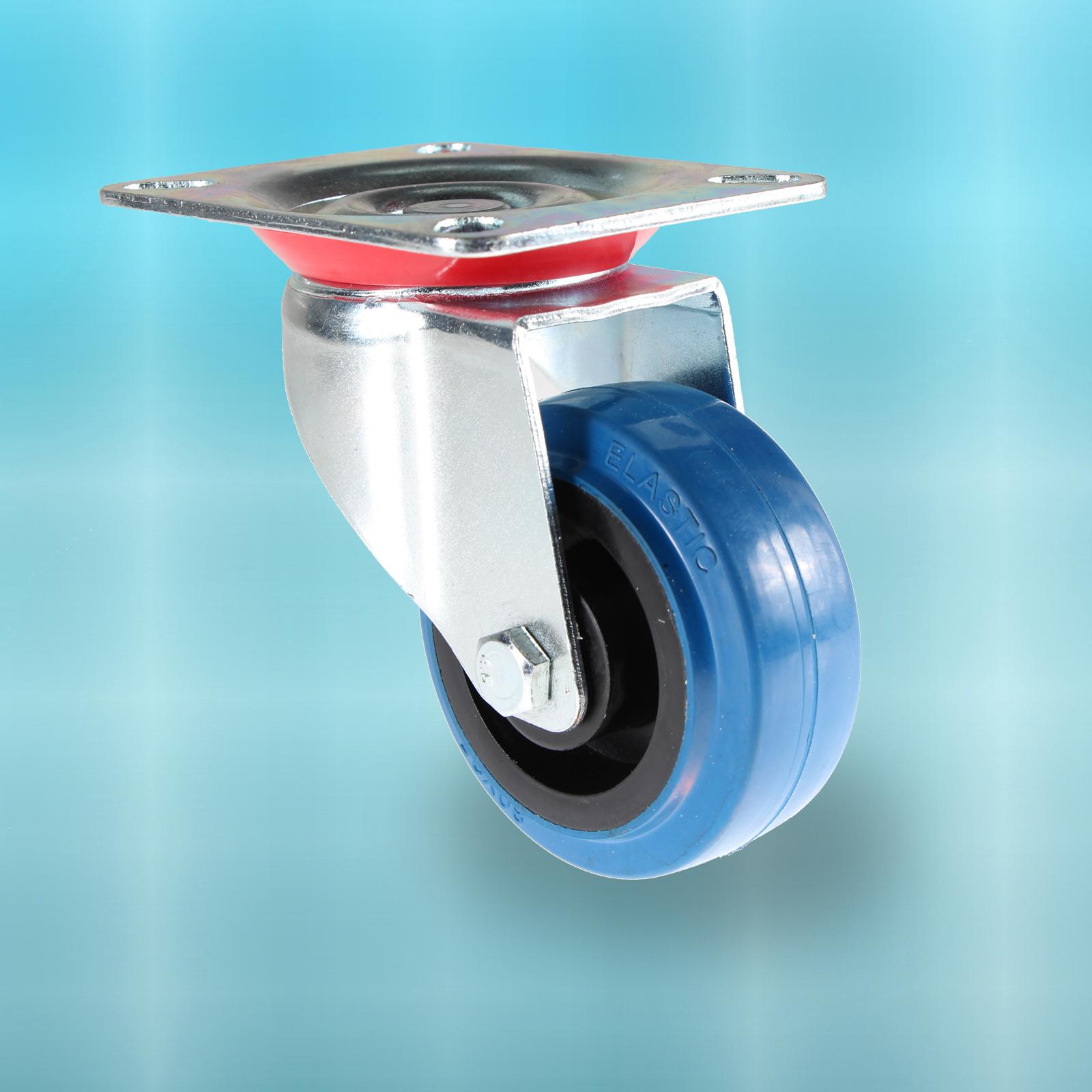 transportrollen blue wheel lenkrollen schwerlastrollen mit bremse 80 100 125 mm ebay. Black Bedroom Furniture Sets. Home Design Ideas