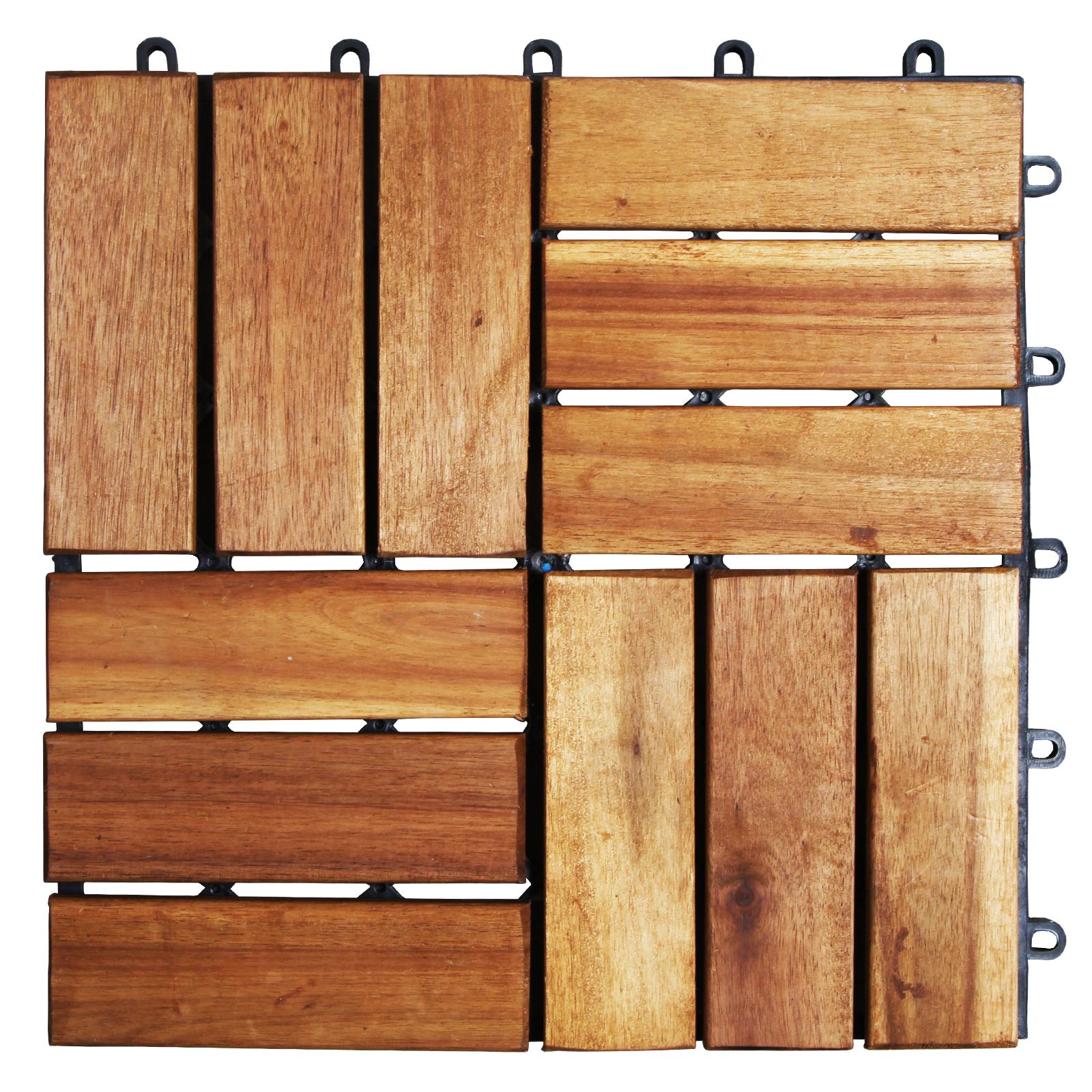 holzfliesen aus akazie terassenfliesen ge lt. Black Bedroom Furniture Sets. Home Design Ideas
