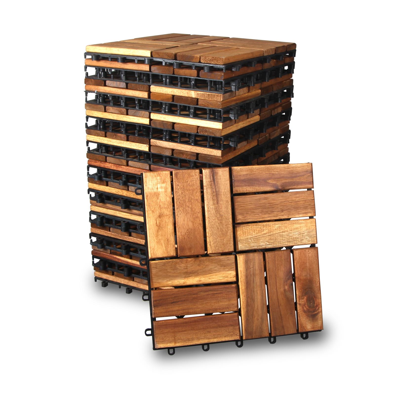 holzfliesen aus akazie terassenflie en ge lt. Black Bedroom Furniture Sets. Home Design Ideas