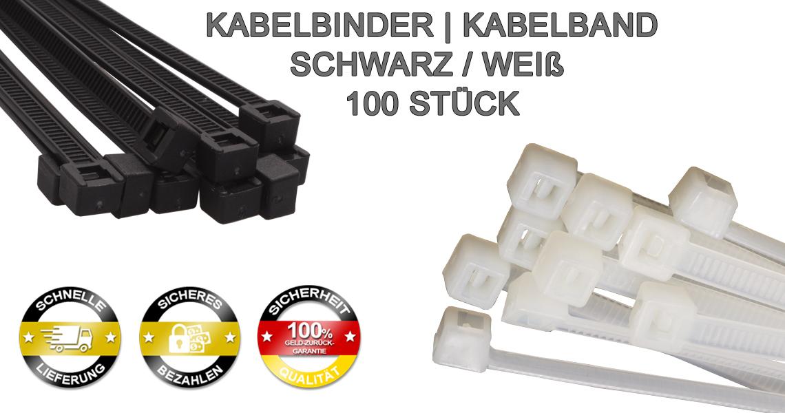 Weiß 50 Stück Kabelbinder Industriequalität 12,6x1000 mm in NATUR