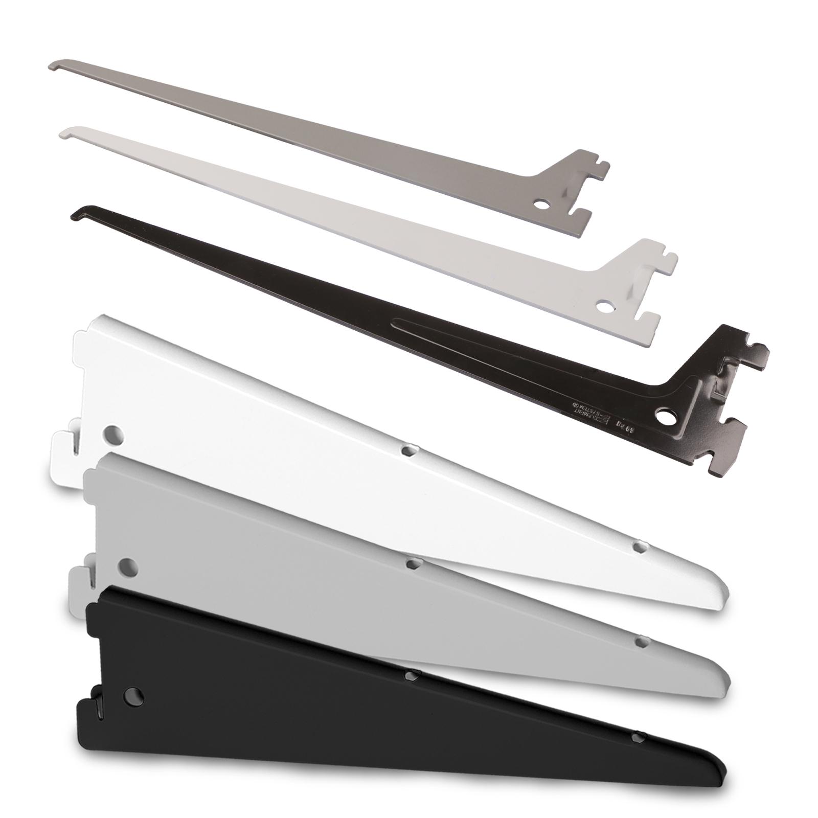 4 Regalhalter Konsolen weiß oder schwarz lackiert Massiv //f.Wandregal