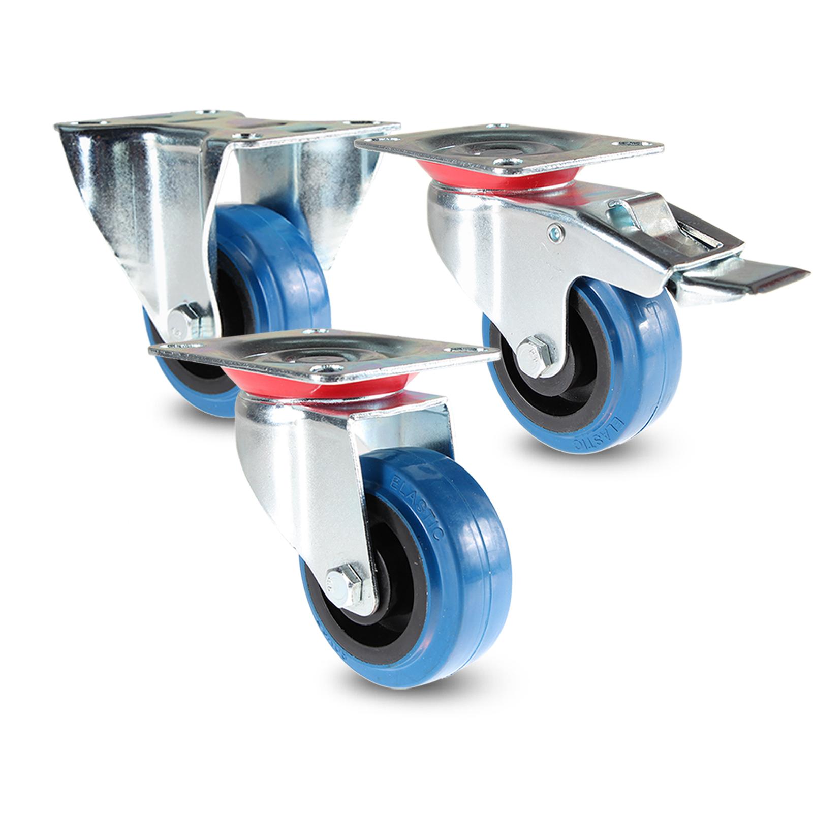 Pro-audio Equipment 48er Set 80mm Sl Bockrollen Blue Wheel Rollen Schwerlastrollen Transportrollen GüNstige VerkäUfe Rollen Mit Anschraubplatte