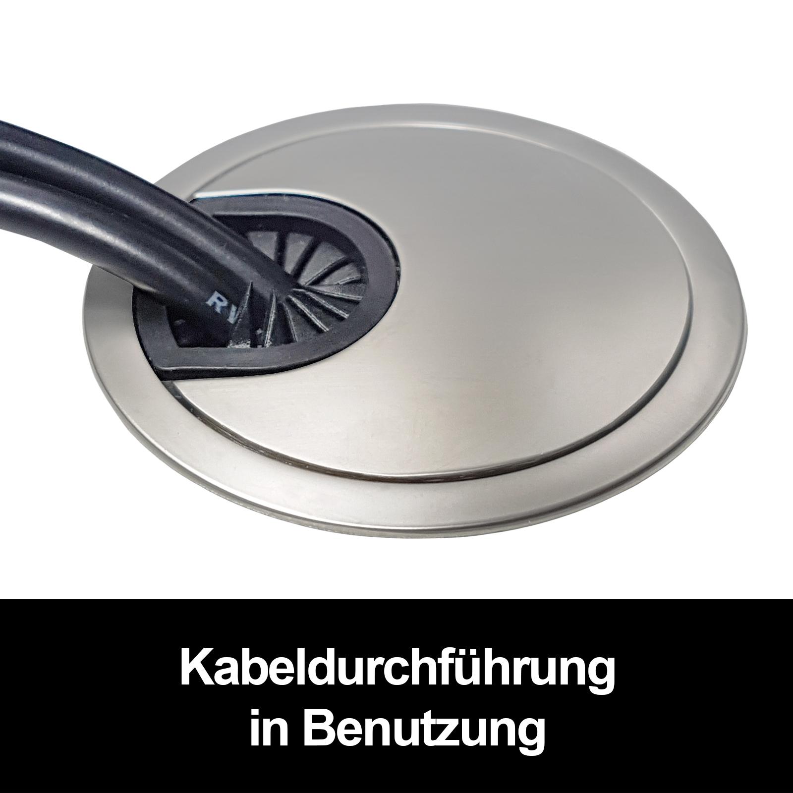 68 mm Kabeldurchführung Kabeldurchlass Metall Ø 90 o